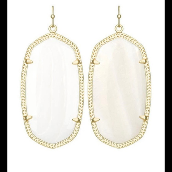 Kendra Scott earrings white